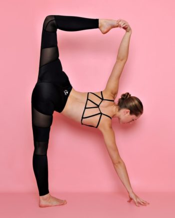 Black Peek-a-Boo Flexi Tights