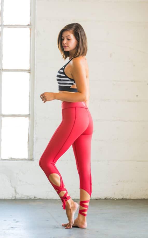 Flexi Lexi Dancer Leggings Maroon Red