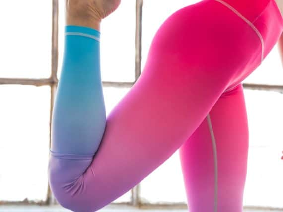 Flexi Lexi Pink Blue Ombré Tights