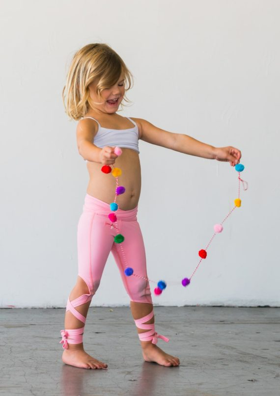 Coral Pink Flexi Kids Dancer Leggings