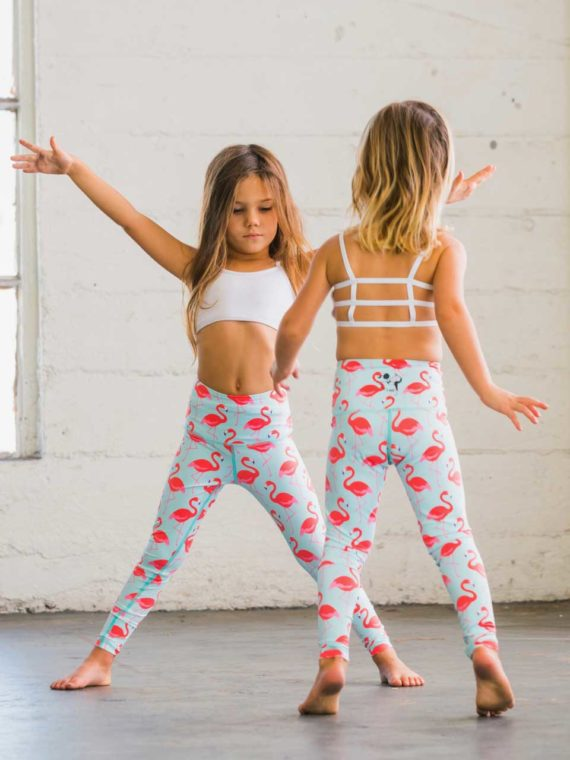 Flexi Lexi Kids Bralette White and Flamingo Flexi Kids Tights