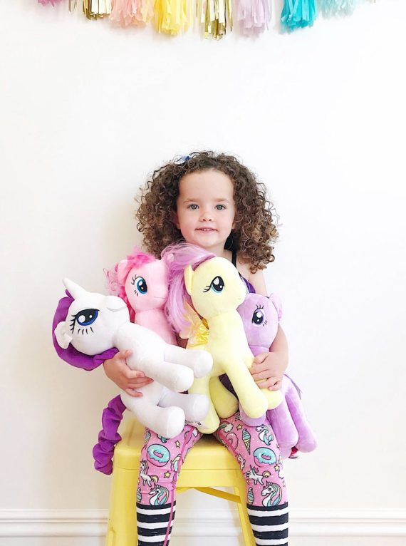 Pink Unicorn and Rainbow Flexi Kids Tights