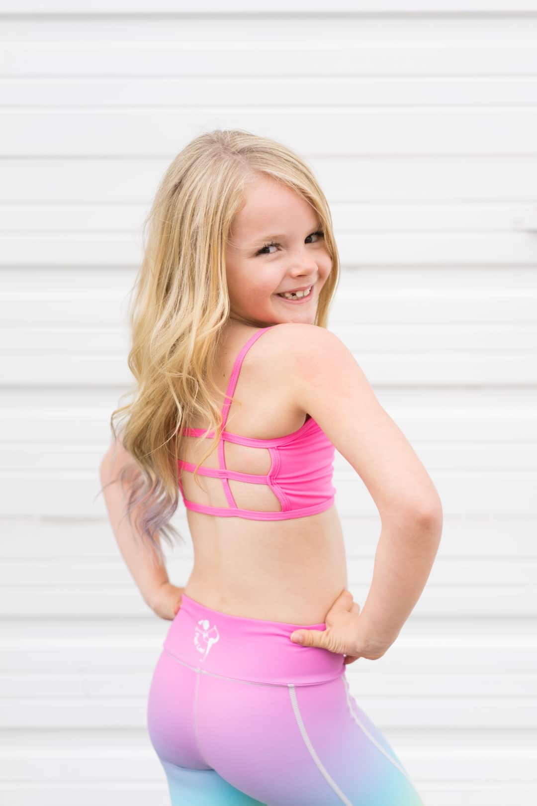 8c7039276e7 Kids top in Neon Pink from Flexi Lexi with details on back