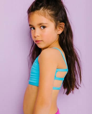 Lexi Kids Bralette Teal Blue