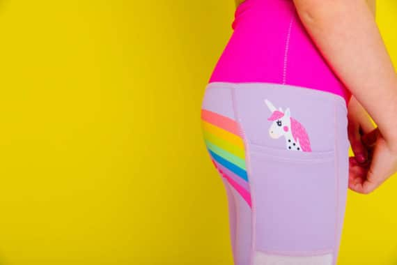 Unicorn in My Pocket Kids Flexi Tights