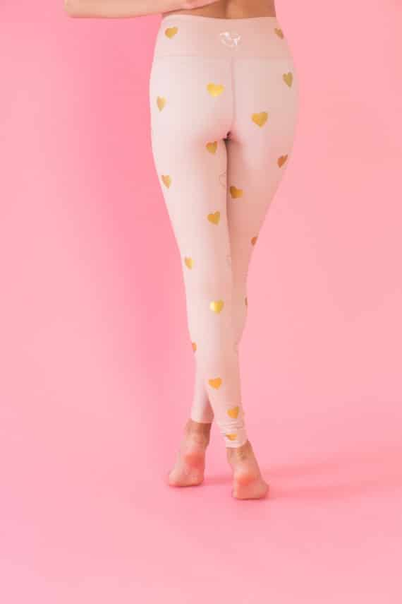 Anna Gold Hearts Tights