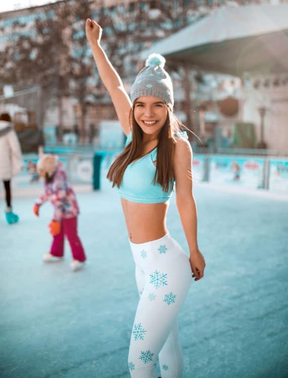 Elsa Metallic Snowflakes Tights