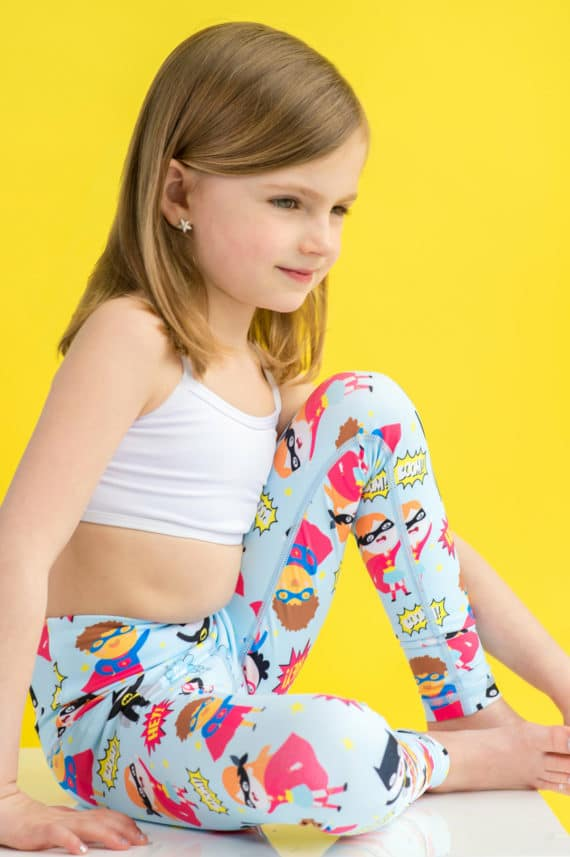 Super Hero Flexi Tights for barn