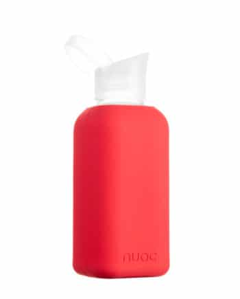 Hauteletics.no - Glass water bottle red
