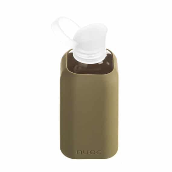 Hauteletics.no - Glass water bottle kaki green